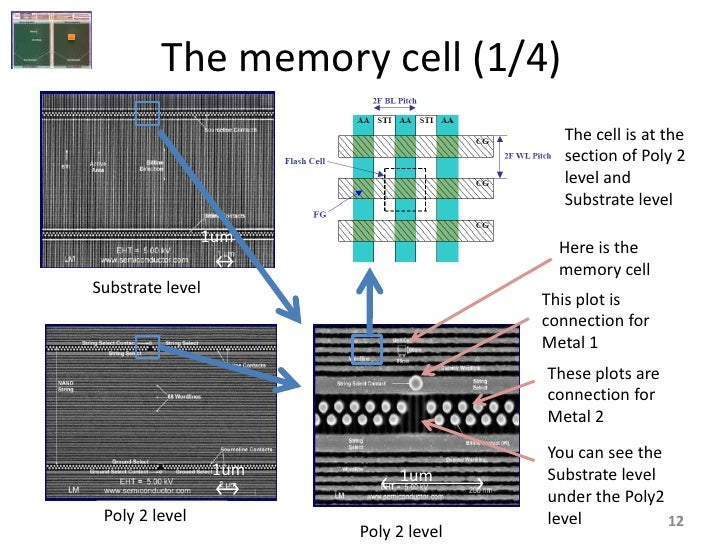 The memory cell (1/4)                                          The cell is at the                                         ...