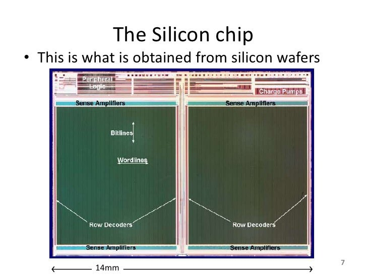 The Silicon chip • This is what is obtained from silicon wafers                                                      7    ...