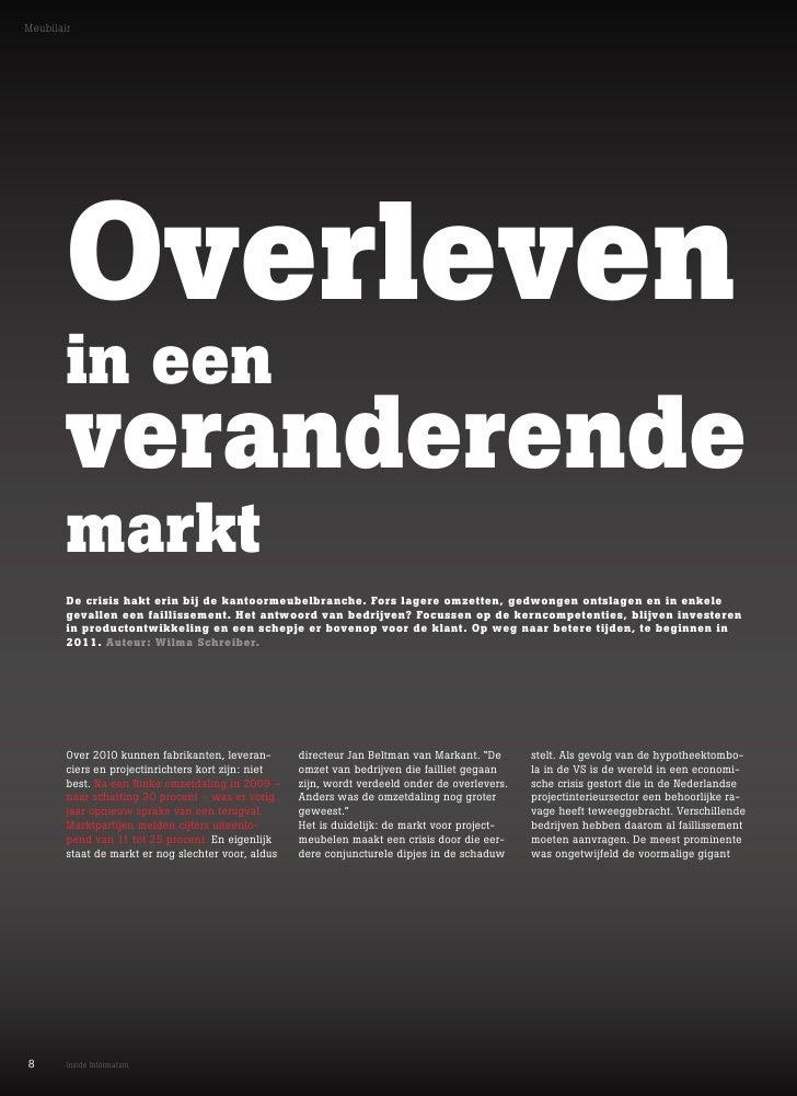 Meubilair        Overleven        in een        veranderende        markt        De crisis hakt erin bij de kantoormeubelb...