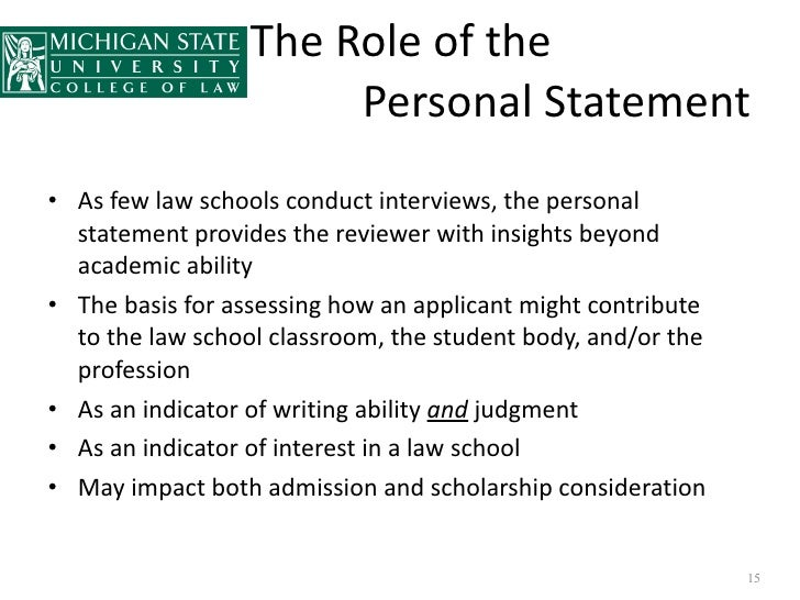 Writing a personal essay for law school