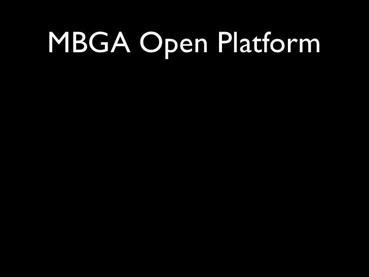 MBGA Open Platform
