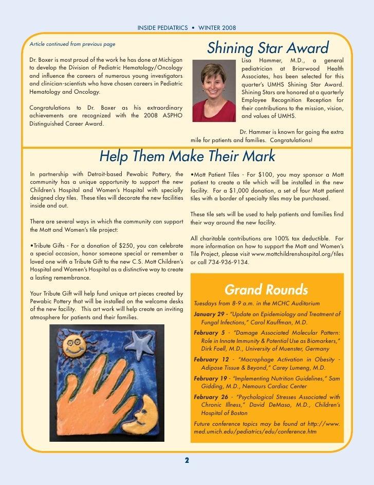Inside Pediatrics Winter 2008 Slide 2