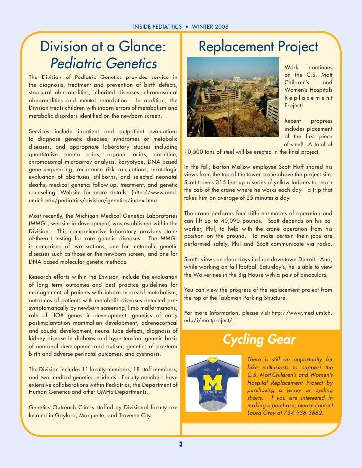 Inside Pediatrics Winter 2008 Slide 3