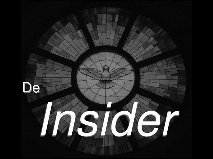 De<br />Insider<br />