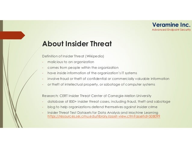 Insider threat-what-us-do d-want Slide 3