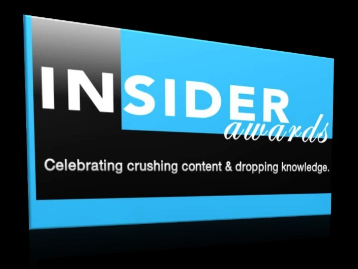 We like our content to party.      #InsiderAwards
