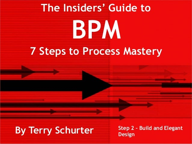 The Insiders' Guide toBPM7 Steps to Process MasteryBy Terry Schurter Step 2 – Build and ElegantDesign