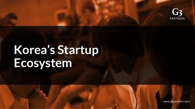 Korea's Startup Ecosystem www.g3partners.asia