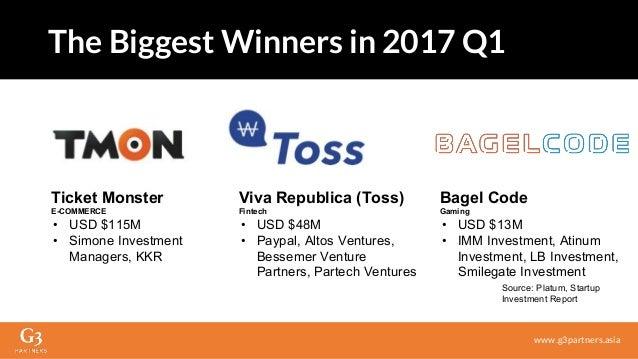 Viva Republica (Toss) Fintech • USD $48M • Paypal, Altos Ventures, Bessemer Venture Partners, Partech Ventures www.g3partn...