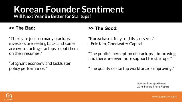 """>> The Bad: """"There are just too many startups; investors are reeling back, and some are even starting startups to put them..."""