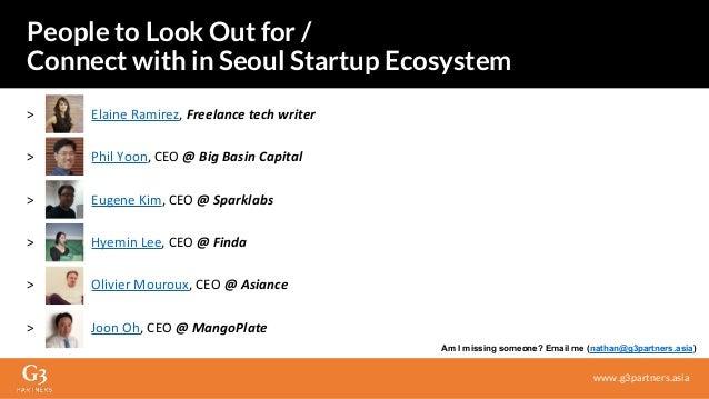 > Elaine Ramirez, Freelance tech writer > Phil Yoon, CEO @ Big Basin Capital > Eugene Kim, CEO @ Sparklabs > Hyemin Lee, C...
