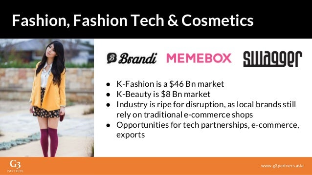 ● K-Fashion is a $46 Bn market ● K-Beauty is $8 Bn market ● Industry is ripe for disruption, as local brands still rely on...