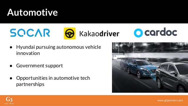● Hyundai pursuing autonomous vehicle innovation ● Government support ● Opportunities in automotive tech partnerships www....