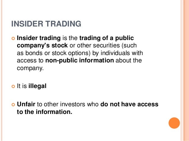 case study issue insider trading Abstract: the notion of insider trading is an important issue that investment  professionals are likely to face in their careers unfortunately, most introductory.