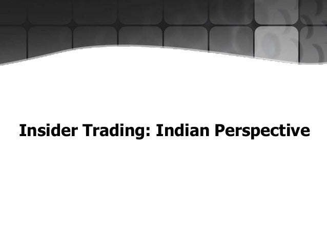 What is Insider Trading?