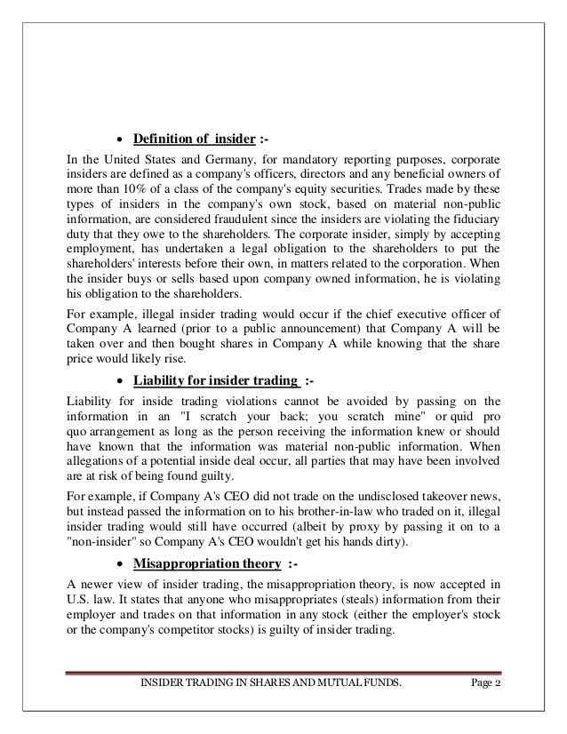 Insider Trading in Mutual Funds - scholarsbank.uoregon.edu