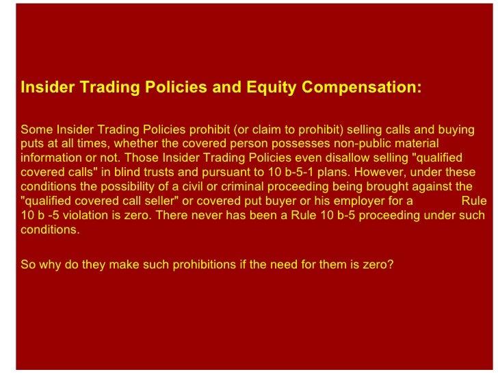 Employee stock option trading