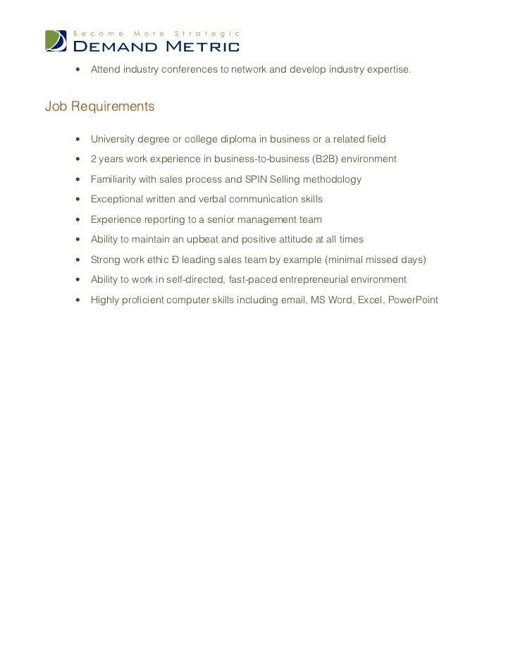 Inside Sales Manager Job Description – Sales Job Description