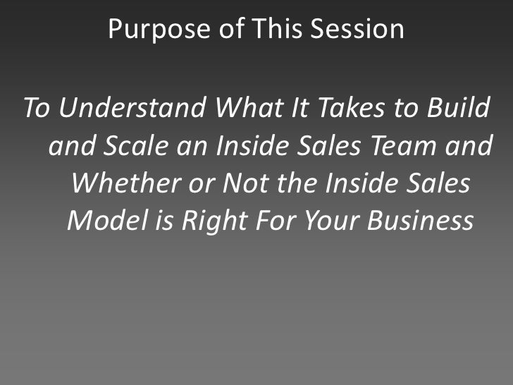 The Agony & Ecstasy of Building and Scaling Inside Sales Slide 2