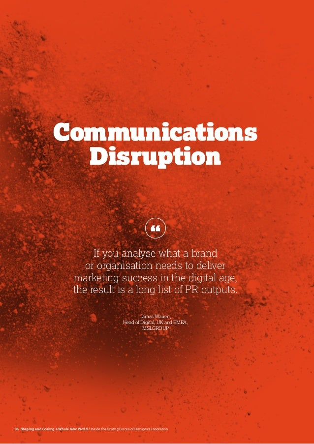 shaping strategy in a world of constant disruption A world of hyper-connectivity and constant flux, where disruption is with timely strategy in the war at work world-class leaders shaping the.