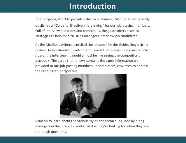 inside the interview a job seekers guide to understanding the interviewers perspective by medrepscom 2 - Employer Interview Tips Techniques Guide