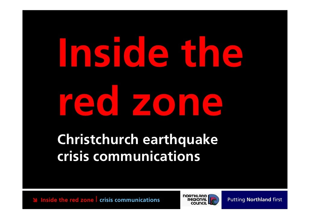 Inside the        red zone        Christchurch earthquake        crisis communications Inside the red zone | crisis commu...