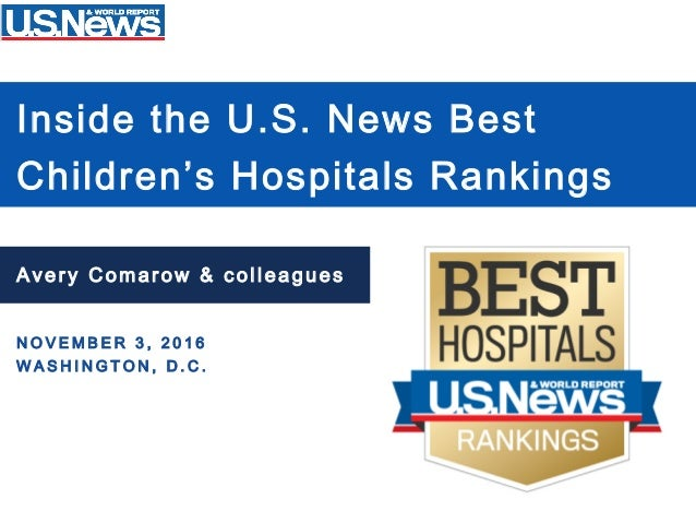 Inside the U S  News Children's Hospitals Rankings
