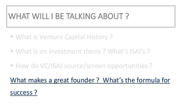 Vc investment thesis