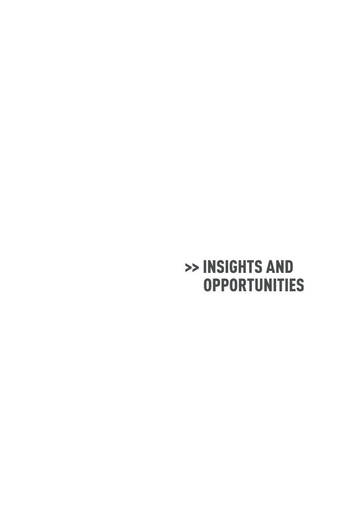 >> INSIGHTS AND    OPPORTUNITIES