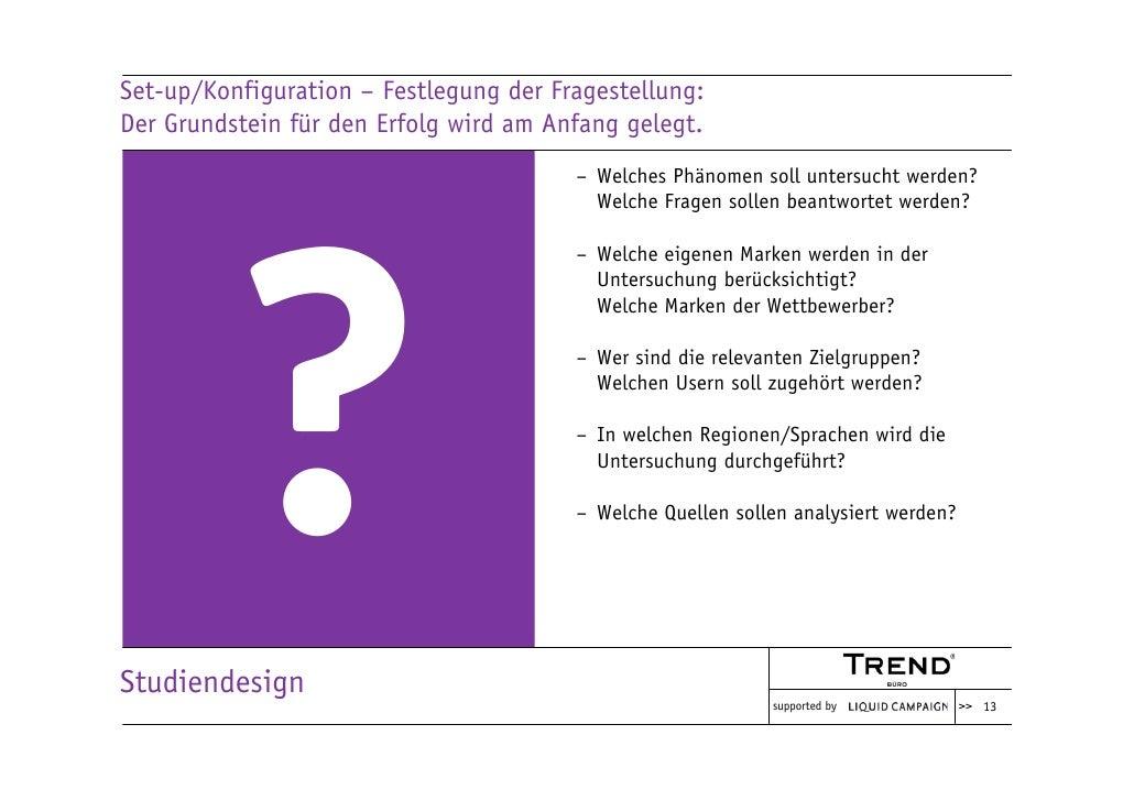 Set-up/Konfiguration – Festlegung der Fragestellung: Der Grundstein für den Erfolg wird am Anfang gelegt.                 ...