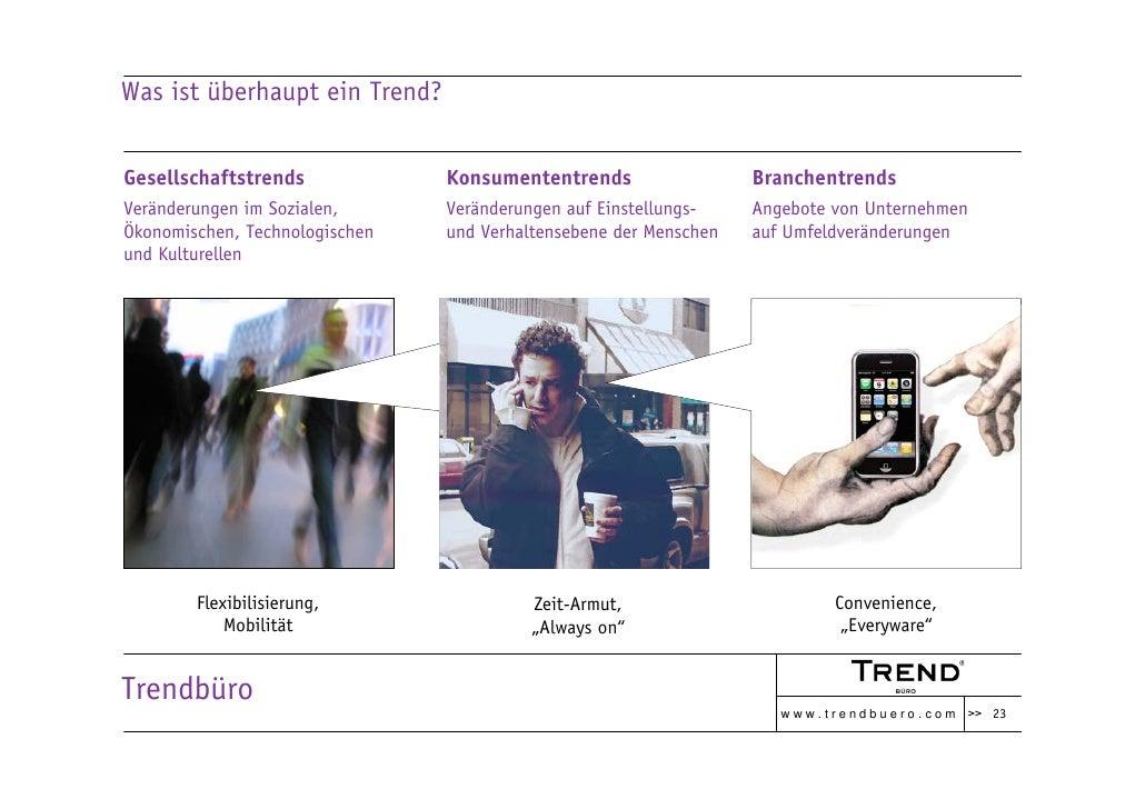 Was ist überhaupt ein Trend?   Gesellschaftstrends             Konsumententrends                  Branchentrends Veränderu...