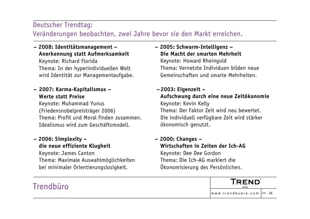 Deutscher Trendtag: Veränderungen beobachten, zwei Jahre bevor sie den Markt erreichen. – 2008: Identitätsmanagement –    ...