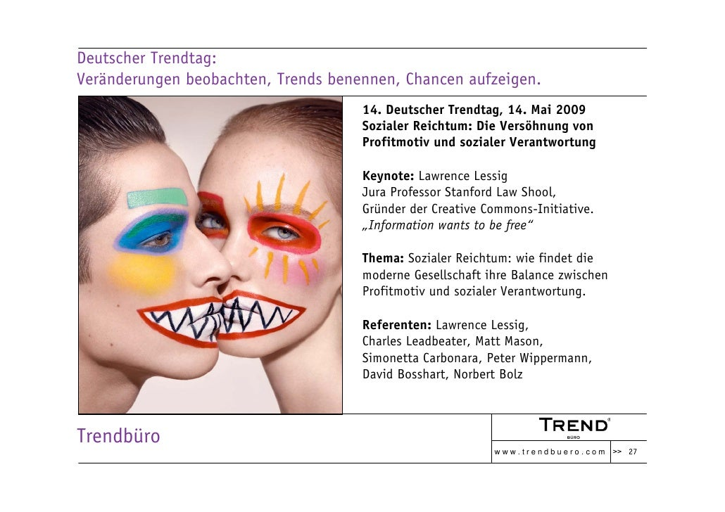 Deutscher Trendtag: Veränderungen beobachten, Trends benennen, Chancen aufzeigen.                                      14....