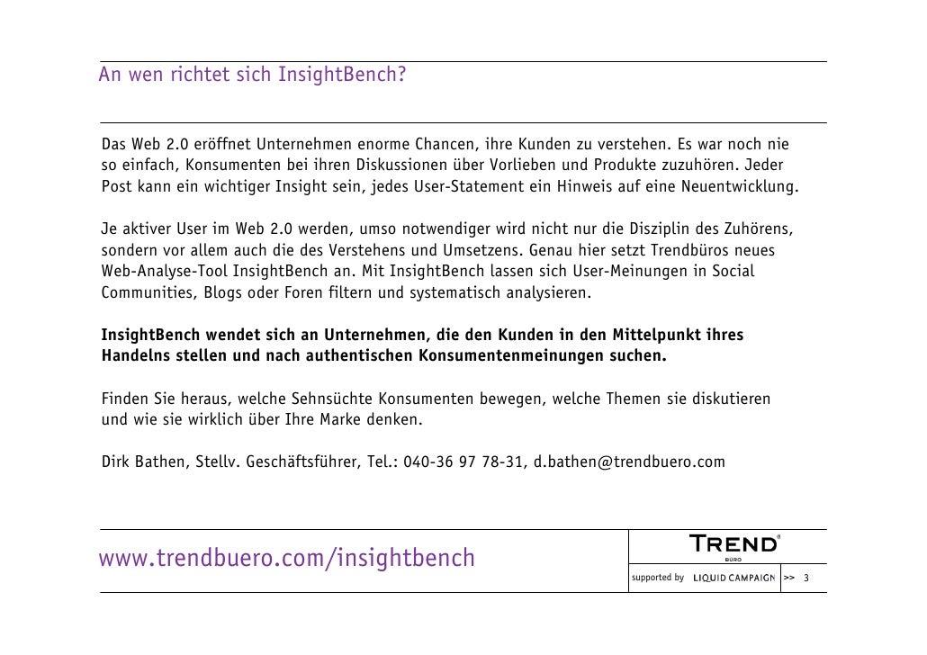 An wen richtet sich InsightBench?   Das Web 2.0 eröffnet Unternehmen enorme Chancen, ihre Kunden zu verstehen. Es war noch...