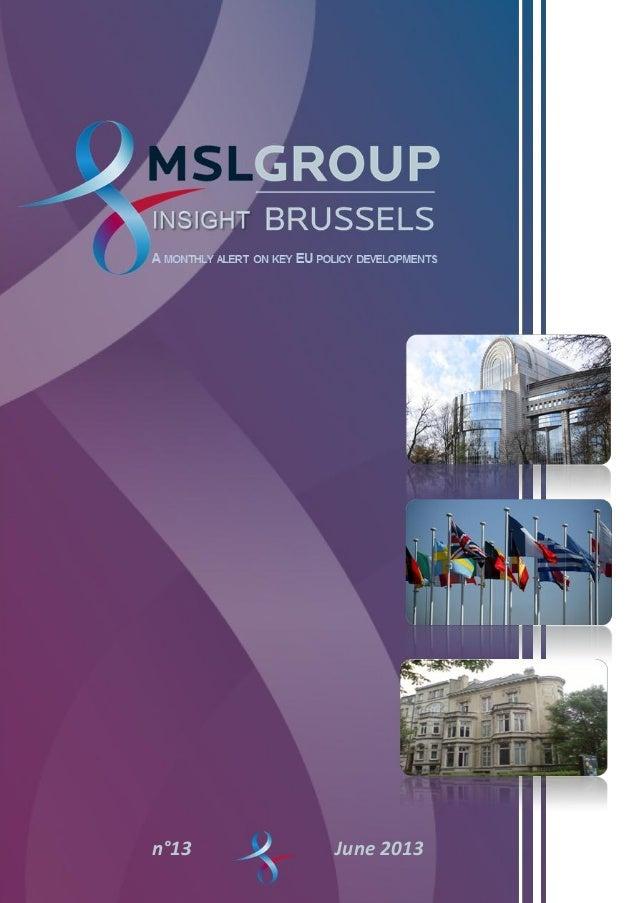   Insight Brussels   0June 2013n°13