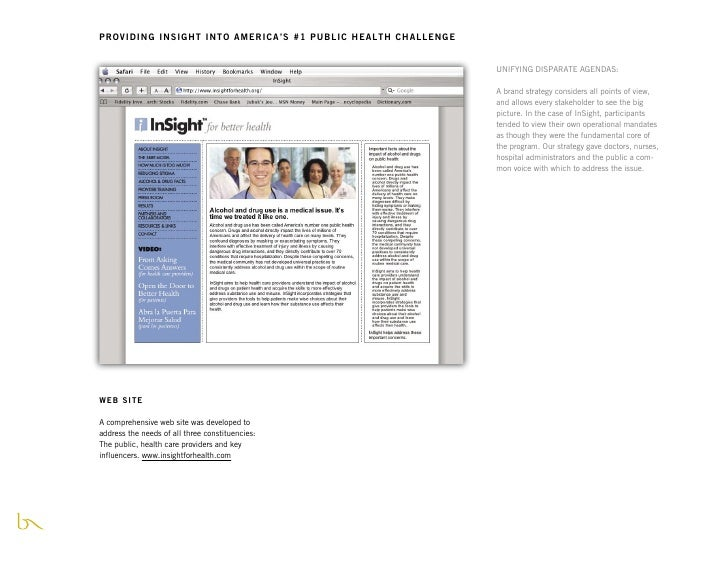 PROVIDING INSIGHT INTO AMERICA'S #1 PUBLIC HEALTH CHALLENGE                                                               ...