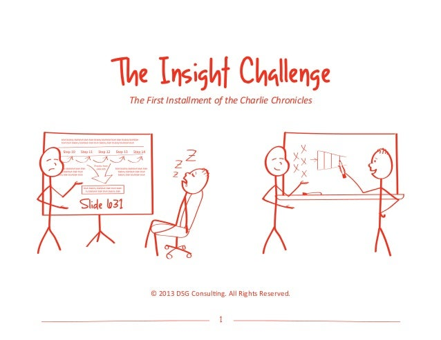1The Insight ChallengeThe First Installment of the Charlie Chronicles© 2013 DSG Consulting. All Rights Reserved.