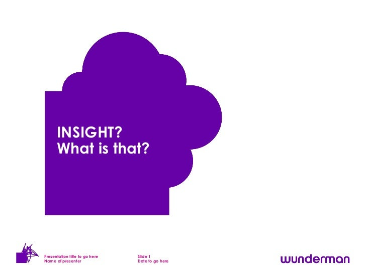 INSIGHT?      What is that?Presentation title to go here   Slide 1Name of presenter               Date to go here
