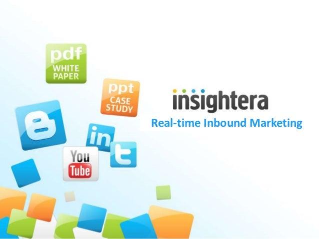 Real-time Inbound Marketing