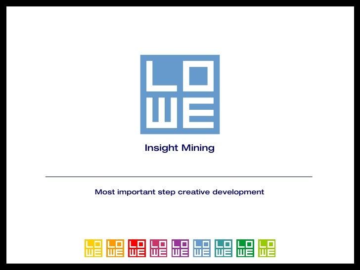 Insight Mining Most important step creative development