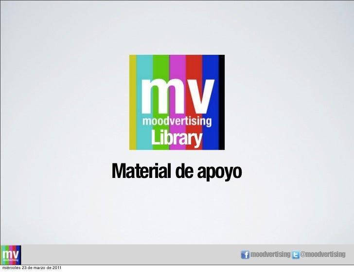 Library                                Material de apoyo                                                    moodvertising ...