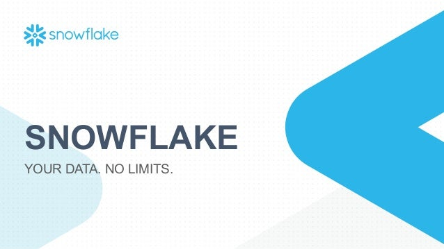 SNOWFLAKE YOUR DATA. NO LIMITS.
