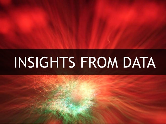 INSIGHTS FROM DATA