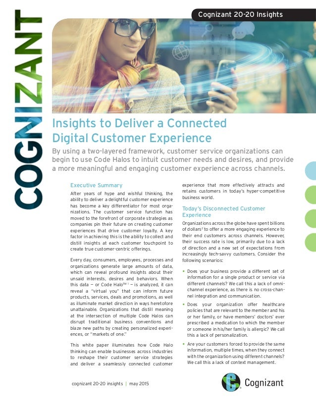 67036afe2c Insights to Deliver a Connected Digital Customer Experience