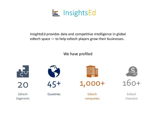 InsightsEd provides data and competitive intelligence in global edtech space — to help edtech players grow their businesse...