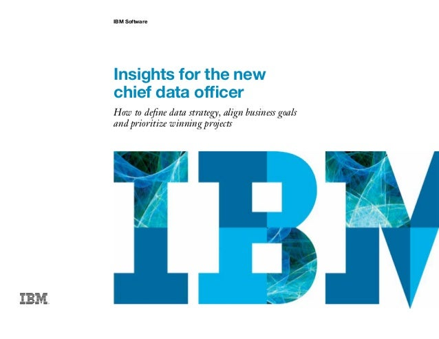 IBM Software Insights for the new chief data officer How to define data strategy, align business goals and prioritize winn...