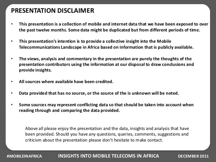 Insights into Mobile Telecoms in Africa Slide 2