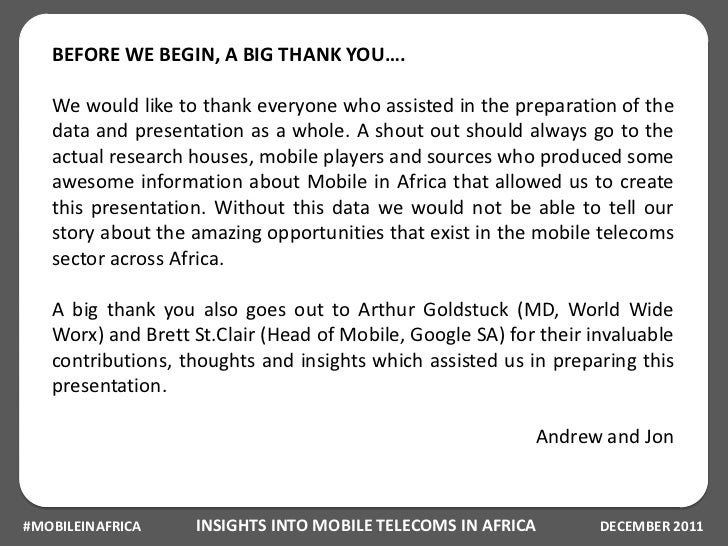 Insights into Mobile Telecoms in Africa Slide 3