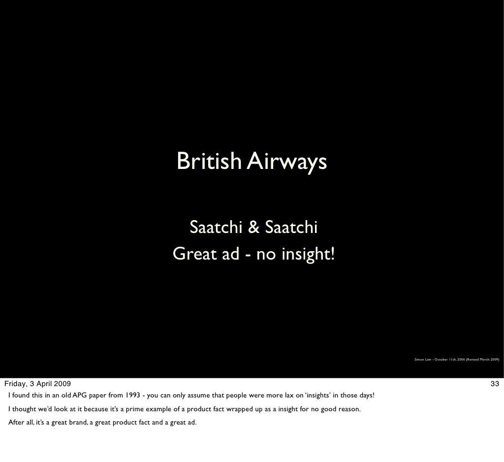 British Airways Saatchi Saatchi