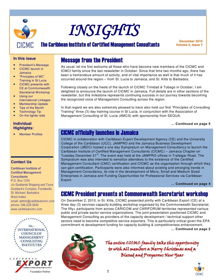 INSIGHTS                                                                 December 2010                      The Caribbean ...